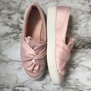 MIA• Blush Pink Bow Sneakers